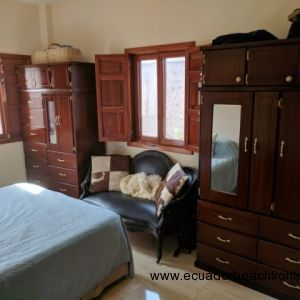 Master with AC, queen bed, matching armoires