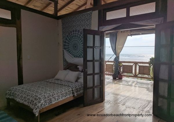 Bedroom 3 opens to the beachfront balcony
