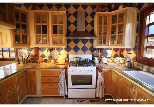 Well equipped custom kitchen