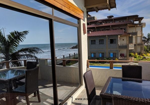 Ensenada del Pacifico beachfront condo for rent