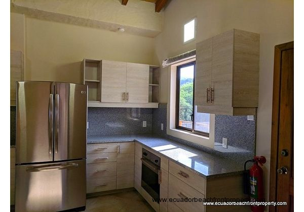 Open kitchen with brand new appliances