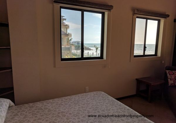 Ocean views from the 2nd bedroom