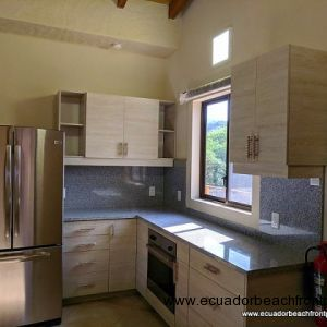 Open kitchen with quality appliances
