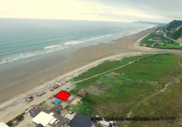 Beachfront lot on the northern end of Briceno. Lot measure 69 ft wide x 56 ft deep (21m x 17m)