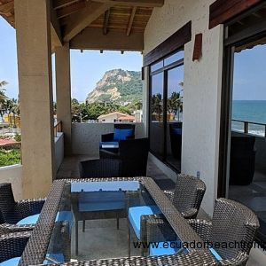 Large oceanfront balcony with incredible views