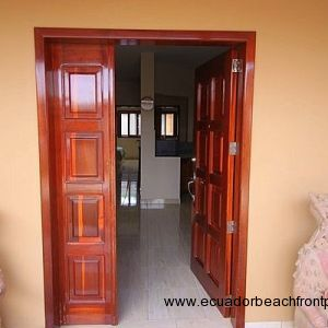 Entrance door open