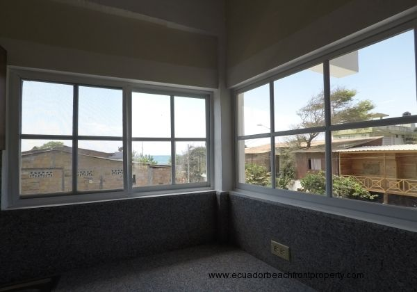 Screened, vinyl windows