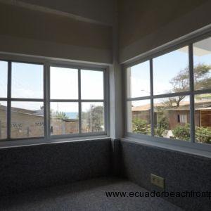 Screened, vinyl windows