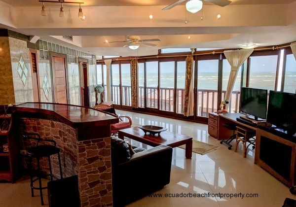 luxury oceanfront condo for sale in Ecuador