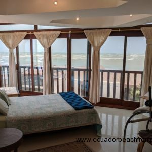 Expansive ocean views from the bedroom