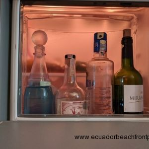 Fridge has an easy access feature for your sunset beverage