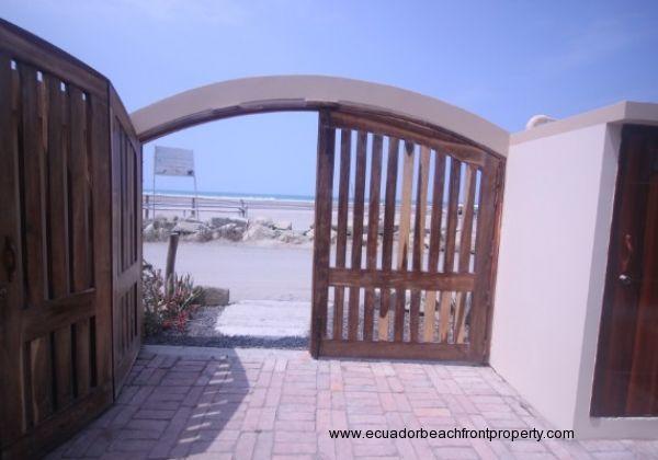 Private parking entrance gate