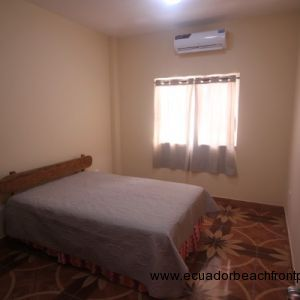 Bedroom with double bed, AC and armoire