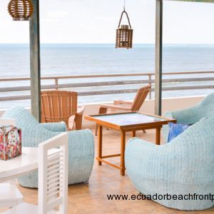 From the spacious terrace lookout over the ocean and enjoy the breeze coming in off the sea.