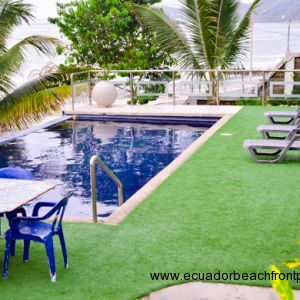 Endless pool with astroturf surrounding it. Relax and enjoy yet another ocean view from the poolside.