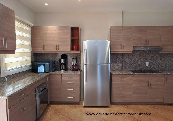 Appliances esenciales incorporated in luxury modern kitchen.
