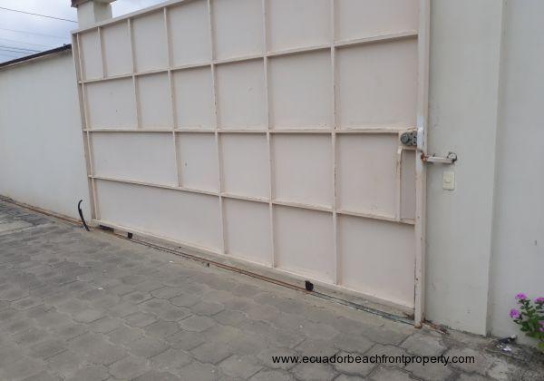 Car park secure gate.
