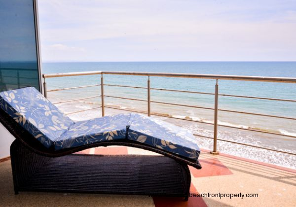 Bliss out under the sun on your oceanfront balcony