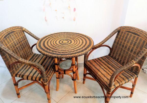 Beachfront balcony chairs