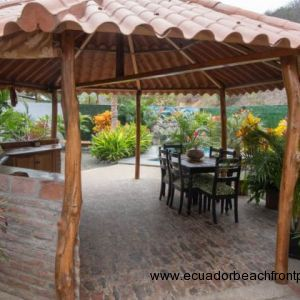 Gazebo in the middle of the garden