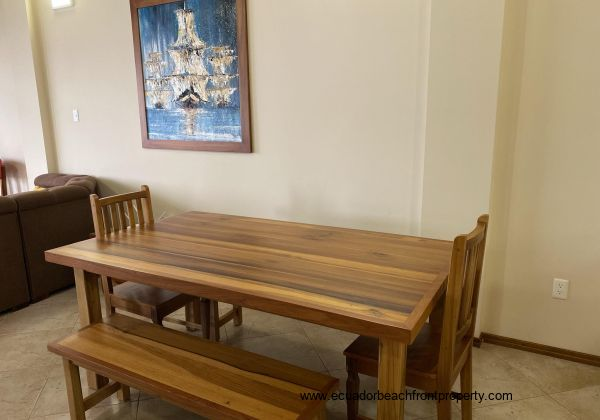 Beautiful hand made solid wood dining table.