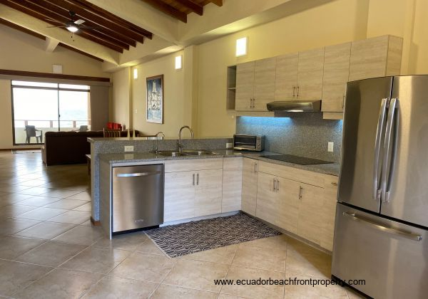 Fully funcional kitchen with everything you will need, includes dish washer.