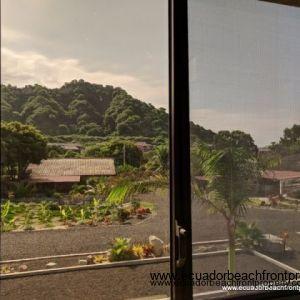 Hillside and garden views from master bedroom window