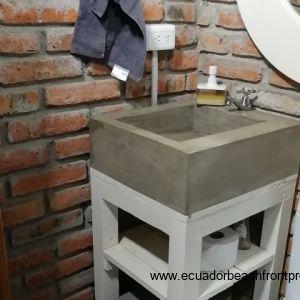 Unique concrete sinks.