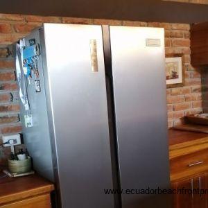 Double fridge freezer.