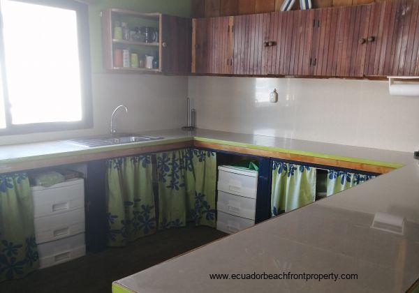 Kitchen with plenty of storage space.