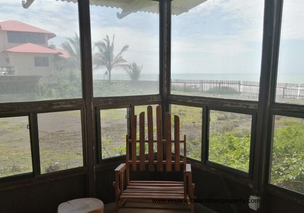 Enjoy the sea view from the sunroom.