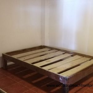 Large bedroom in the downstair apartment, fits two double beds.