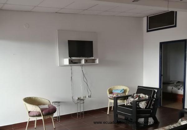 Open plan living area.