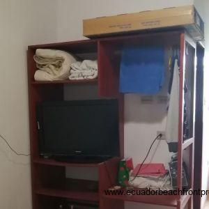 Storage space in second bedroom.