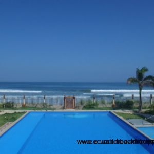 View from the pool at Ensenada del Pacifico.