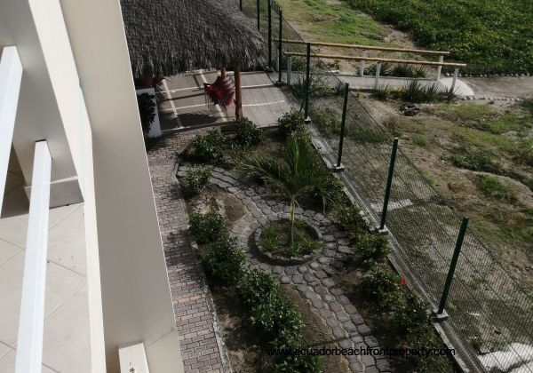 View to pathways from the balcony.