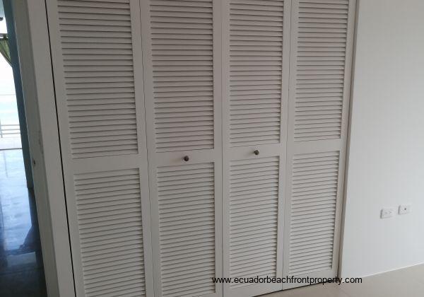 Louvre doors on the built in wardrobes in each bedroom.