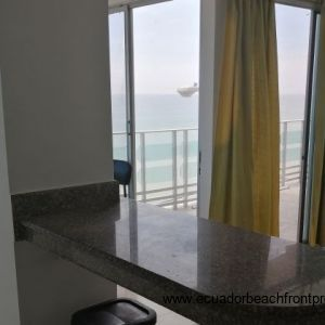 Kitchen bar area with amazing views!