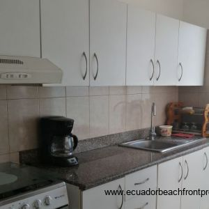 Fully fitted kitchen with high and low level units.
