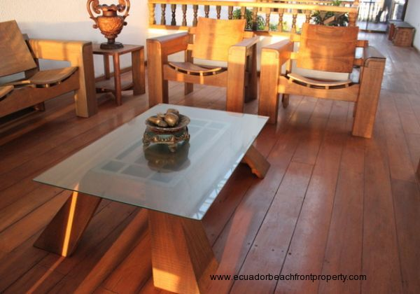 Beautiful wood floors and custom wood furniture