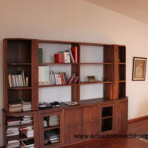 Hardwood shelving