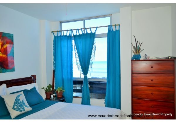 bedroom #2 has ocean view, ceiling fan, private bath with built in closets