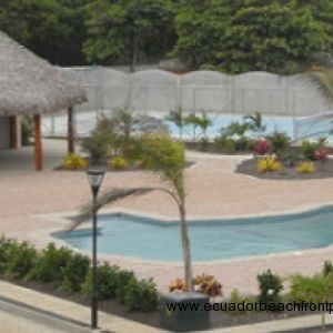 Pool, cabana and tennis courts